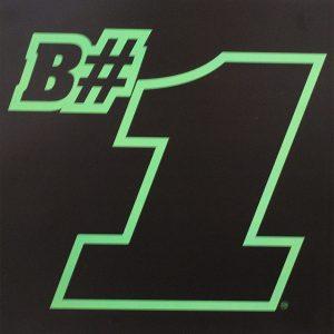 B#1 Poster (Black Background)