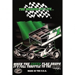 The Meaning of Life Sprint Car Poster