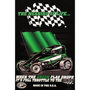 The Meaning of Life Wingless Sprint Car Poster