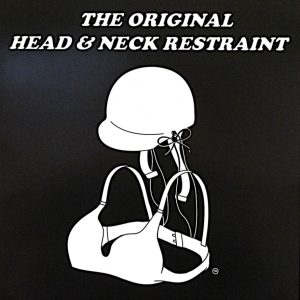The Original Head and Neck Restraint Poster (Black Background)