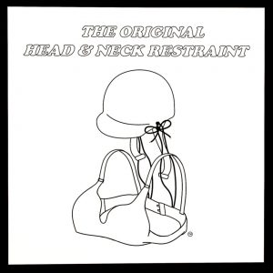 The Original Head and Neck Restraint Poster (White Background)