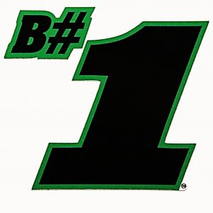 B#1 Sticker - Black