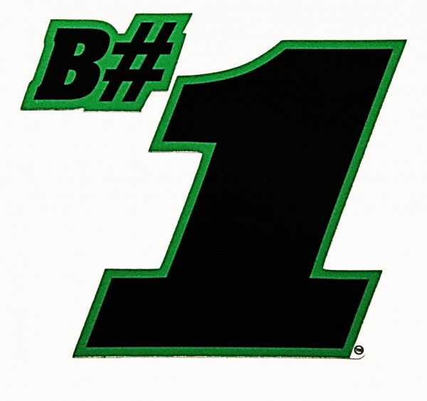 B#1 Sticker - Black
