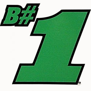 B#1 Sticker - Green