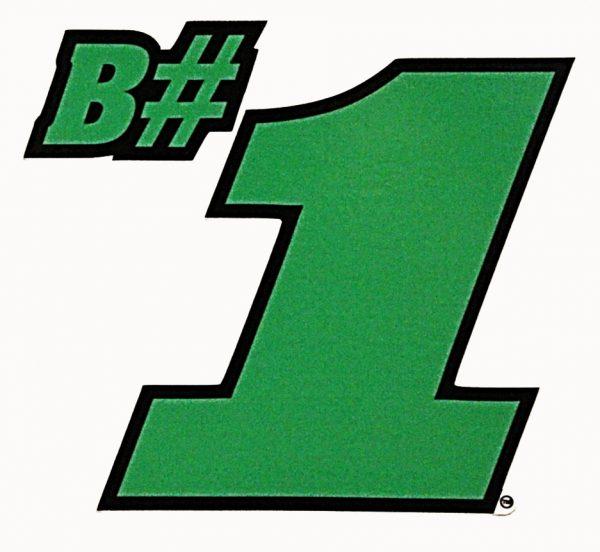 B#1 Sticker - Green