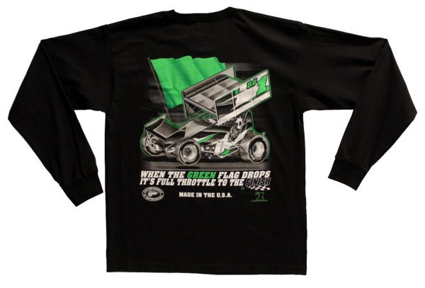 The Meaning of Life Long Sleeve T-Shirt (Black, Sprint Car)