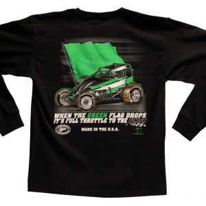 The Meaning of Life Long Sleeve T-Shirt (Black, Wingless Sprint Car)