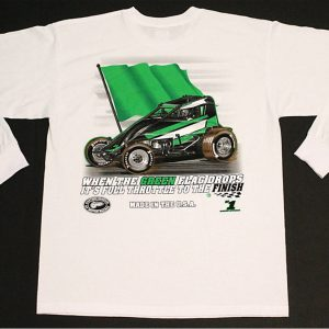 The Meaning of Life Long Sleeve T-Shirt (White, Wingless Sprint Car)