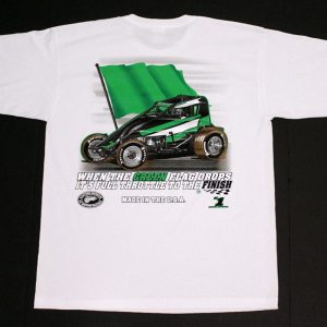 The Meaning of Life T-Shirt (White, Wingless Sprint Car)