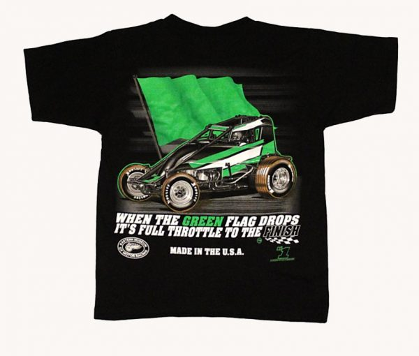The Meaning of Life Children's T-Shirt (Black, Wingless Sprint Car)