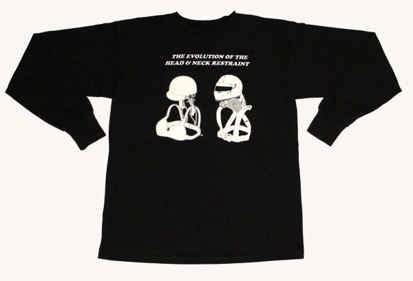 e Evolution of the Head & Neck Restraint Long Sleeve T-Shirt (Black)