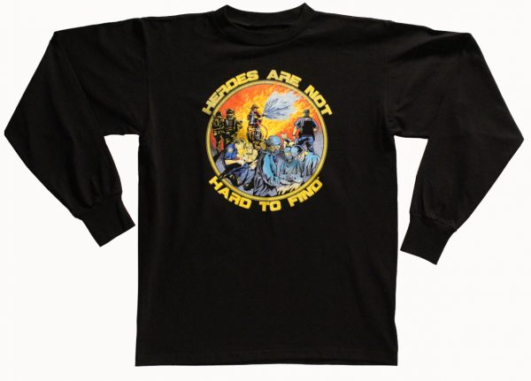 Heroes Are Not Hard To Find Long Sleeve T-Shirt (Black)
