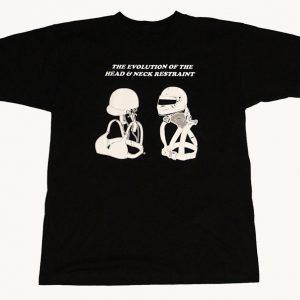 The Evolution of the Head & Neck Restraint T-Shirt (Black)