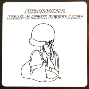 The Original Head & Neck Restraint Sticker