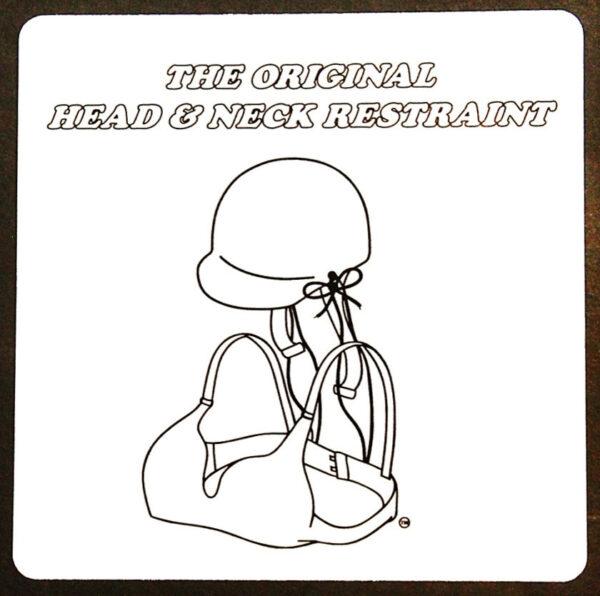 The Original Head & Neck Restraint Sticker