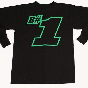 B#1 Long Sleeve T-Shirt (Black)