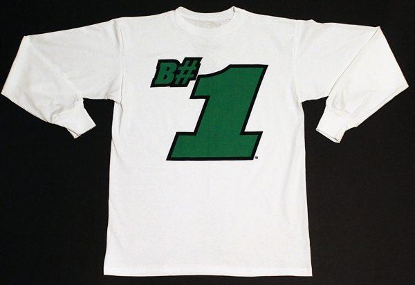 B#1 Long Sleeve T-Shirt (White)