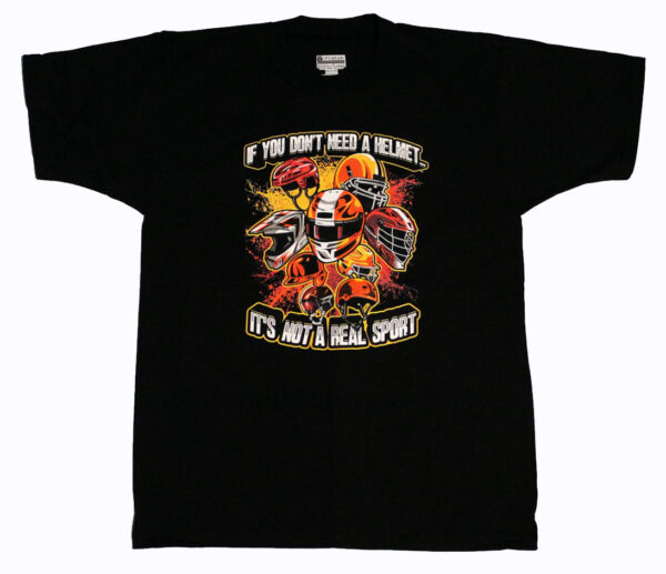 Helmets T Shirt (Black) - Front