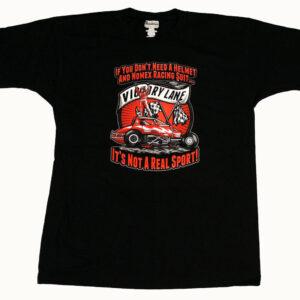 Racecar Helmet T Shirt (Black) - Front